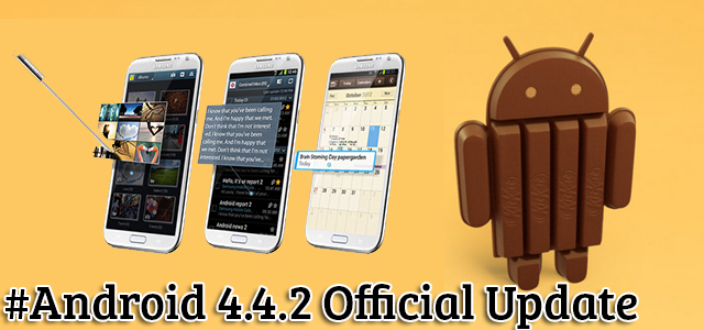 How to update Samsung Galaxy Note 2 N7100 to Android KitKat